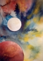 Paul Douglas, London / The Planets, watercolour, 60 x 50 cm, framed